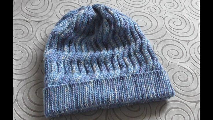 Тёплая шапка крючком Море волнуется Crochet beanie