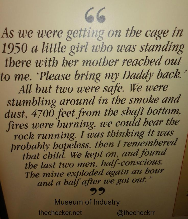 Life of a Miner - Museum of Industry   #Mining #Safety