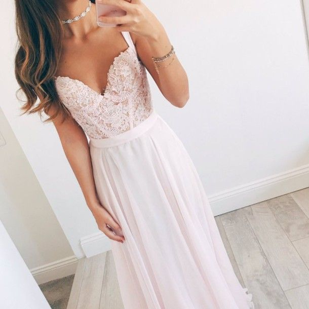simple pretty pink gown