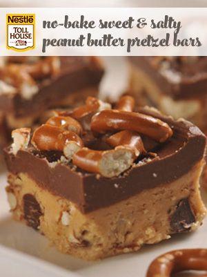 No-Bake Sweet & Salty Peanut Butter Pretzel Bars