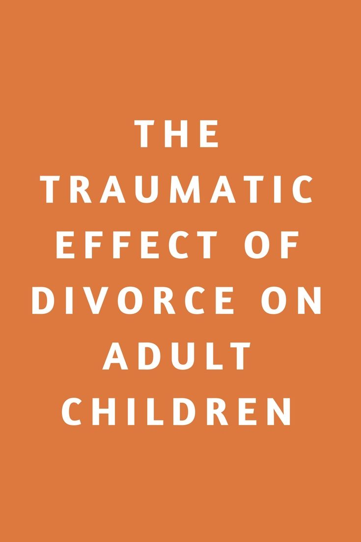 MYRA: Effects of divorce on adult