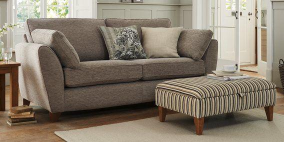 buy tiverton large sofa 3 seats soft texture mid stone. Black Bedroom Furniture Sets. Home Design Ideas