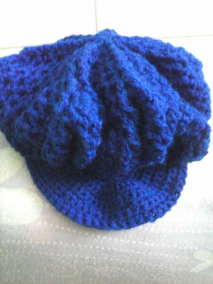 Gorro com Aba em Croch Bege Crochet t Crochet and 5adbe44b26a