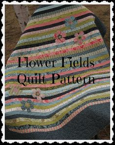 PATTERN Flower Fields Baby Quilt easy uses by ModernMaterialGirl, $9.00