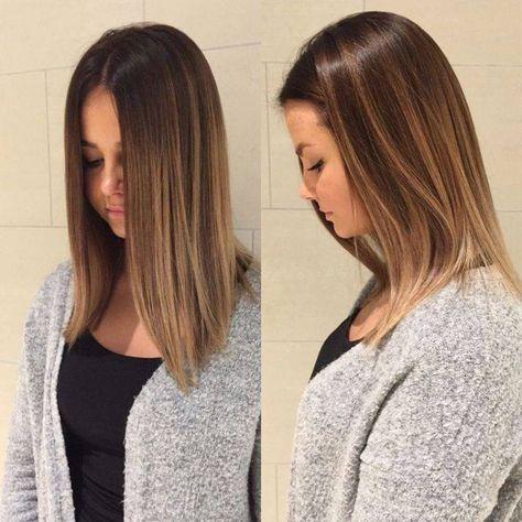 couleur balayage cheveux,long,lisses,femme,brunette