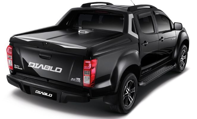 """Thankfully, then, D-Max enthusiast have this: the darkest pick-up with  """"wicked desires"""" to """"announce your arrival with its uniquely bold and  stylish ..."""