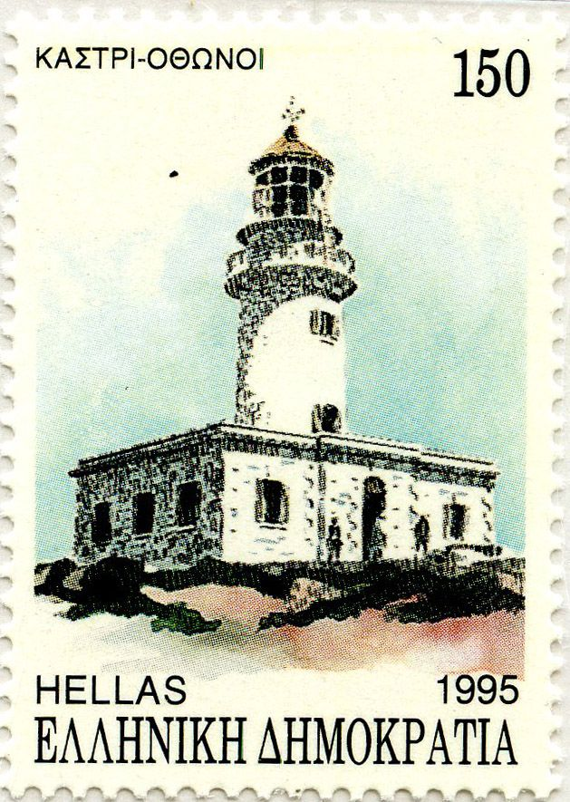 Faros de Grecia: Faro Kastri (Othoni) (1872): Grecia. 1995