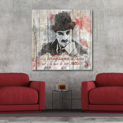 Tableau décoration mural citation Charlin Chaplin