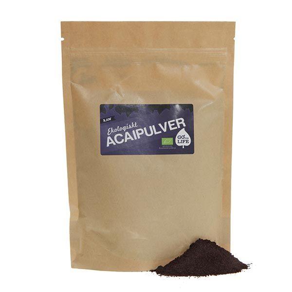 Acaipulver (Eko & Raw)  Acai var i många århundraden en hörnsten hos Brasiliens ursprungsbefolkning; indianstammarna i Amazonas inte bara förtärde superbäret som mat och dryck utan använde det även till kläder, redskap och till och med vapen.