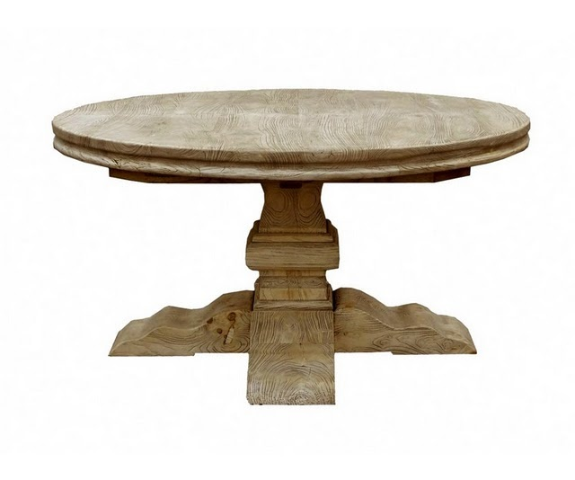 Round Table   Love The Base. I Think This Would Work Better In Our Dining  Area