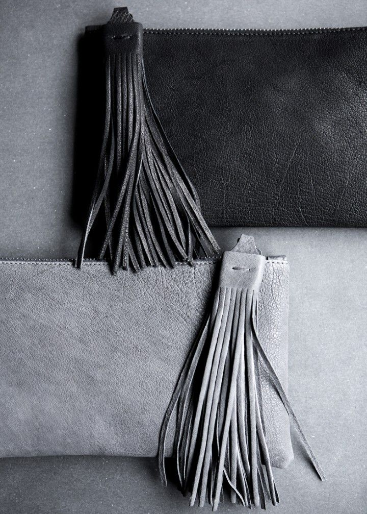 Yvonne Koné › New Tassel Clutch ~ simply inspiration ...... somewhere on my boards exist directions for leather tassels....... hmmm