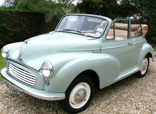 Nigel wants this for this Birthday!  1961 Morris Minor Convertible via CarAndClassic