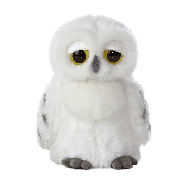 Flurry the Dreamy Eyes Snowy Owl Stuffed Animal by Aurora at Stuffed Safari