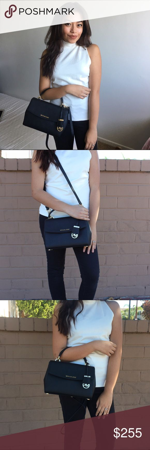 Michael Kors Ava purse NWT authentic black Michael kors Ava purse! Has attachable straps as well! Michael Kors Bags