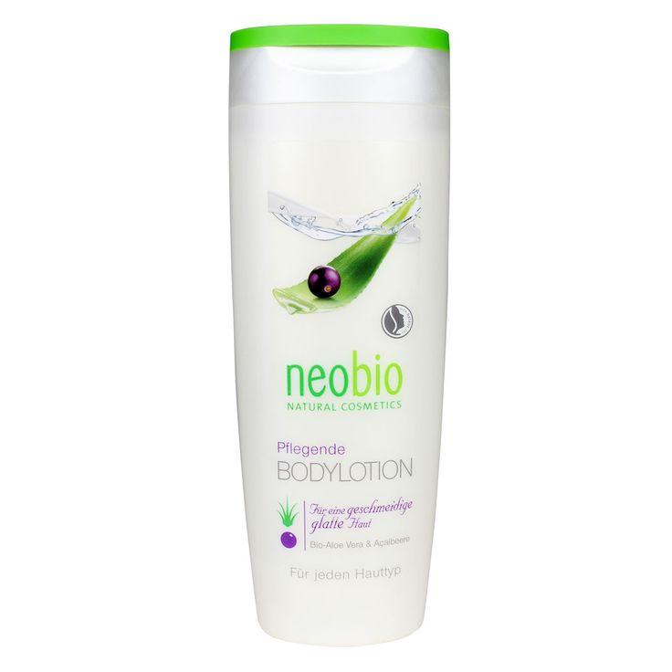 Neobio body lotion met biologische shea boter, aloe vera en acai maakt de huid soepel en glad. De zachte lotion ontspant, hydrateert en verzorgt de huid.