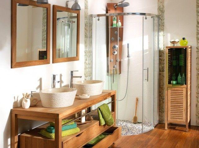 21 best salles de bain zen images on pinterest zen - Decoration salle de bain zen bambou ...