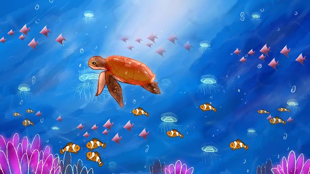 Cute Fish Ocean Water Animal Png And Vector With Transparent Background For Free Download Cute Fish Fish Graphic Cartoon Fish