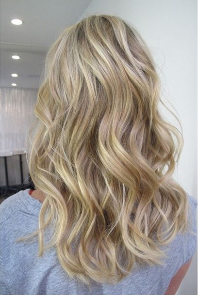 beachy blonde hair