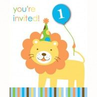 Boys Lion Invitations (8pk) $7.95 20895100