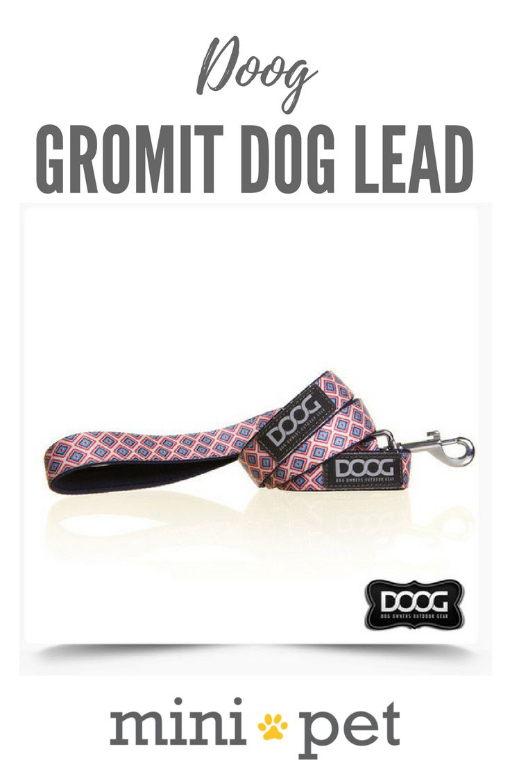 [SALE]   NEW DESIGN!  DOOG dog leads are perfect for dogs on the go! Made from quick dry Neoprene, these dog leads are super stylish with the added benefit of being super soft and easy on your hands during long walks!  The Gromit dog leash features a retro style diamond pattern. Matching dog collars are also available.