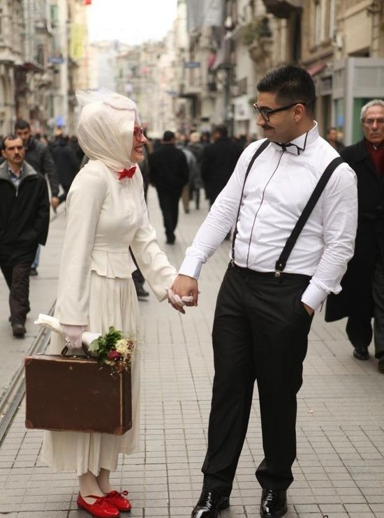 Muslim couple with nerdy style!