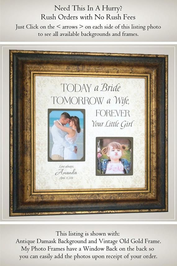 85852ca7f0 Personalized Father of the Bride, Picture Frame Gift, Father Daughter Gift,  Dad Gift for Parents of the Bride, Today a Bride in 2019 | Everything  Pinterest ...