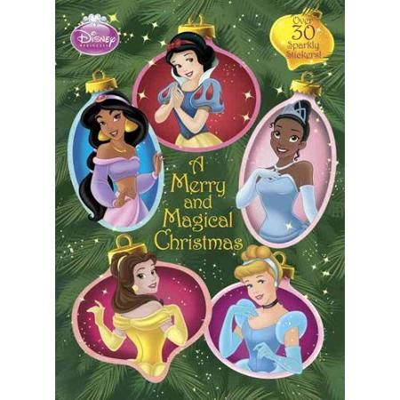 A Merry And Magical Christmas Disney Princess Glitter Sticker Book