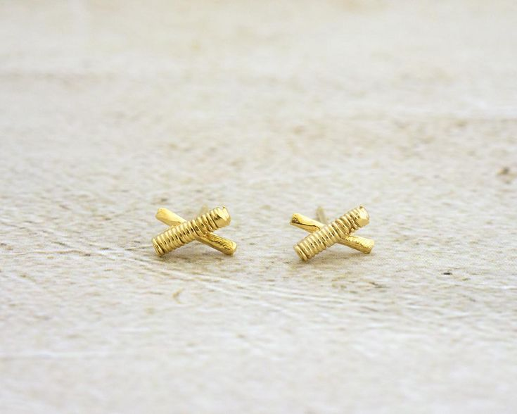 Tiny Gold Earrings, X Earrings, Gold Tiny Stud Earrings, Silver Tiny Stud Earrings, Small Post Earrings, Gold Cartilage Stud, Helix Earrings