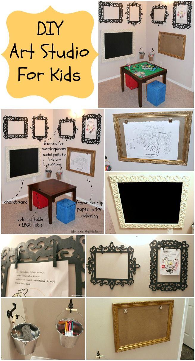Art Studio For Kids - fun DIY ideas for creating a little art studio at home for children.