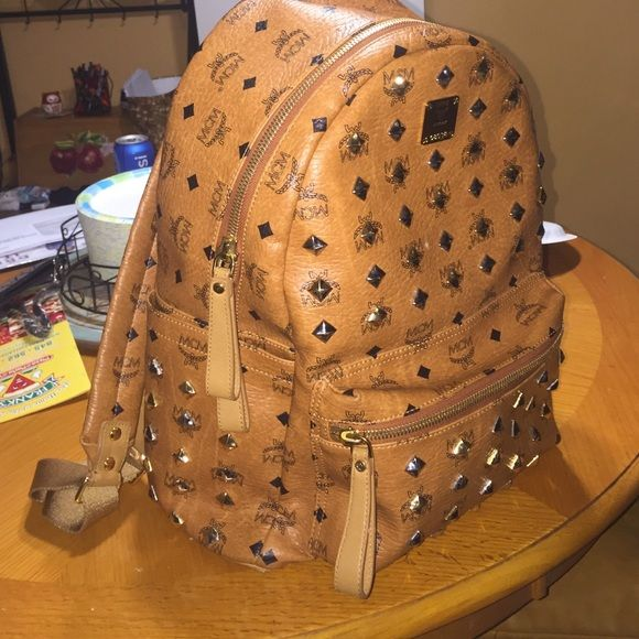 MCM bookbag 100% real never fakes , 9/10 condition had it for a year now and only used a few times MCM Bags