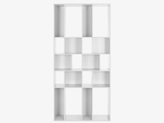 Wide white bookcase from Habitat