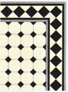 Engelske, Vikorianske geometriske gulv fliser. - Little England Design A/S