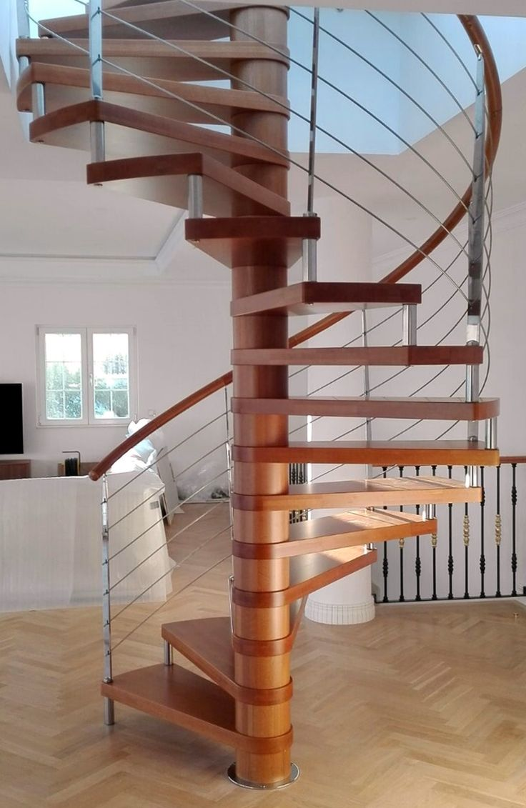 The 25 best pasamanos de madera ideas on pinterest - Escalera caracol de madera ...