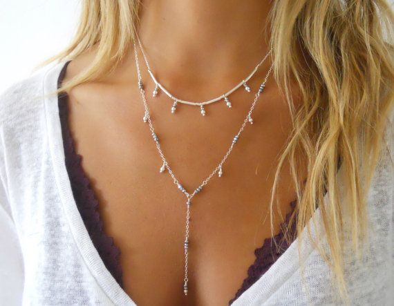 Orientalische Halskette Set 2 Sterling Silber von annikabella