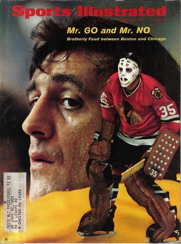 1971 3/29 Sports Illustrated magazine,Hockey Tony Esposito Chicago Blackhawks EX