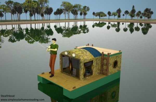 LaMar Alexander, of Simple Solar Homesteading, issharingthis awesome8×12 stealth-boat tiny housedesign aspart of our 2015 8×12 tiny house design contest. But he is just sharing it for fun…