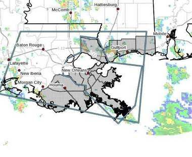 Forecasters warn that 5 to 8 inches of rain could fall over much of the New Orleans area through Friday morning.