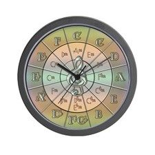 Circle of Fifths Pastel Wall Clock for