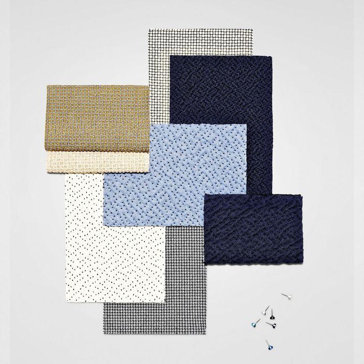 Textile art. The three innovative designs Vale, Ripple and Colline