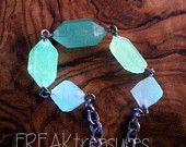 Girocollo cristalli in resina fosforescente colori di ghiaccio