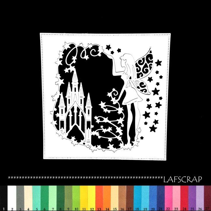 1 découpe cadre château fée princesse scrapbooking embellissement album scrap die cut déco : Embellissements par lafscrap