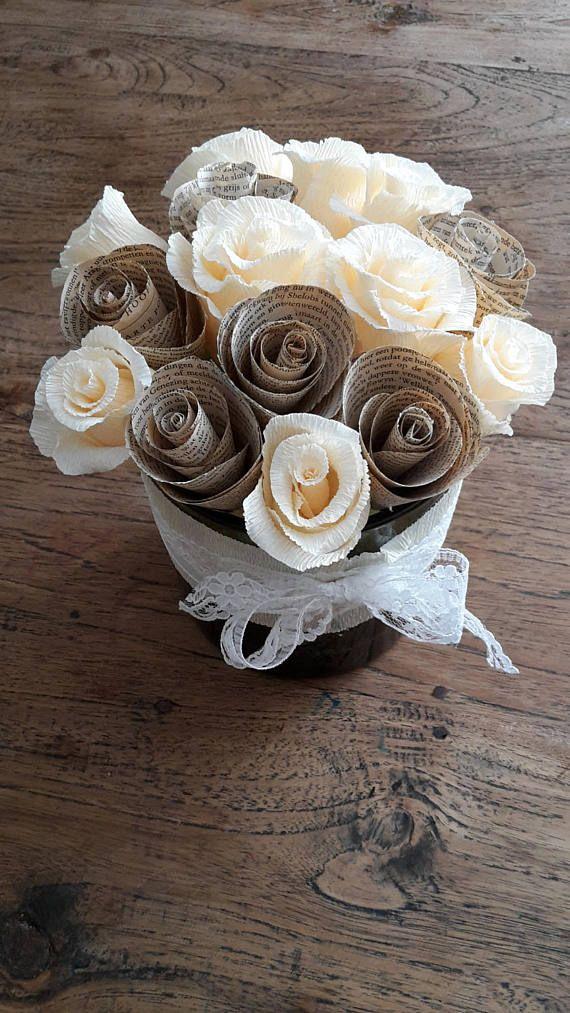 bride bouquet WEDDING PAPER BOUQUET bridesmaids flowers