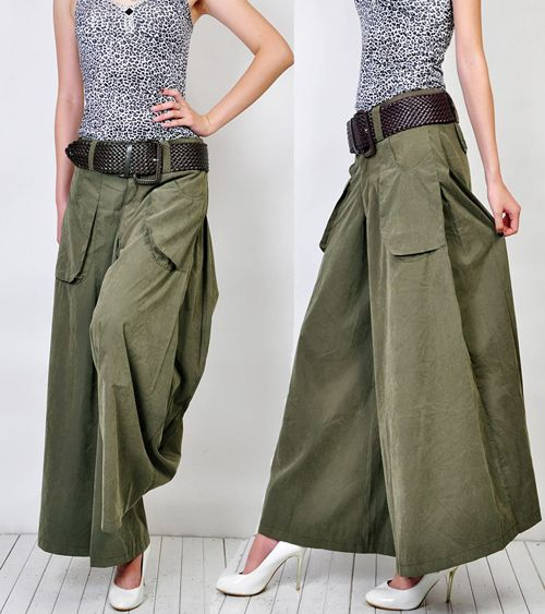 Summer plus size  culottes fashion wide leg pants women's full length trousers