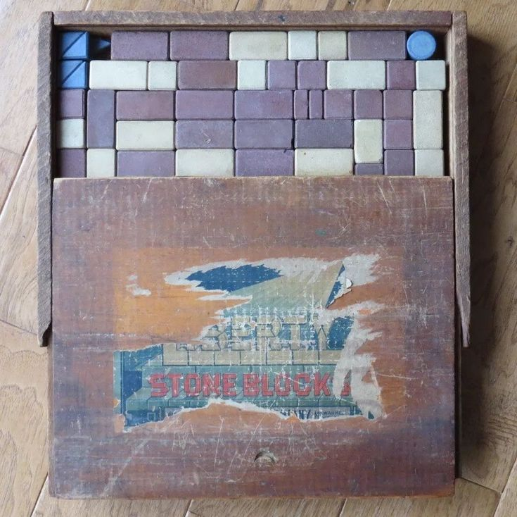 Stone Blocks Building Set Vintage Liberty Phoenix Toy Company  #LibertyPhoenix