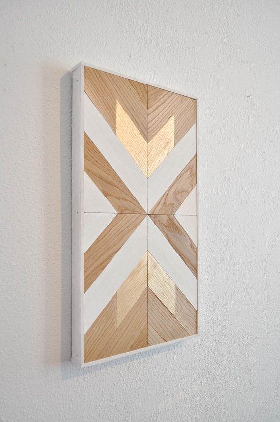 Wood chevron decor