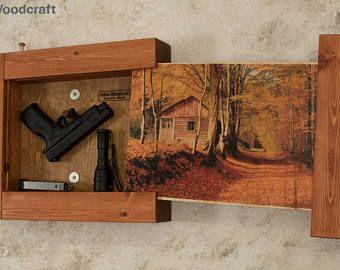Pistola oculta almacenamiento arte  primavera en las