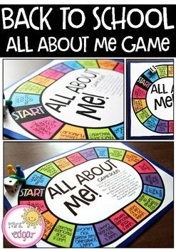 All About Me | Back to School Board Game