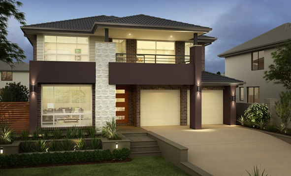 Firstyle Home Designs: Newbury 29 - Augustine Facade. Visit www.localbuilders.com.au/builders_nsw.htm to find your ideal home design in New South Wales