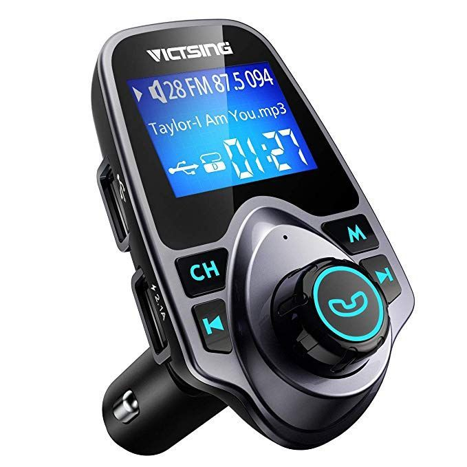 LCD Car FM Transmitter Bluetooth For Mobile Phone AUX Charger 1.44 inch Display