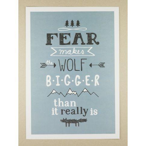 Plakat A3 The Wolf - MagiaPolnocy.pl sklep w stylu skandynawskim. #muumuru